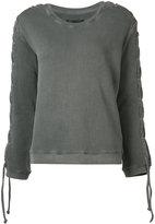 RtA laced sleeve sweatshirt - women - Cotton - XS