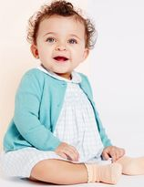 Marks and Spencer Girls Cashmere Blend Cardigan (3 Months - 5 Years)