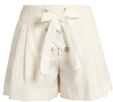 Sonia Rykiel Lace-up linen-blend shorts