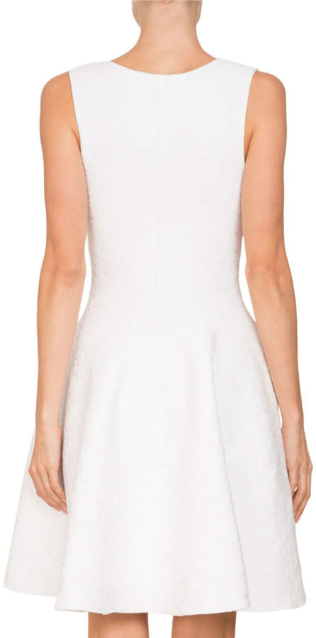 Givenchy Sleeveless Damask Jacquard Fit-and-Flare Cocktail Dress