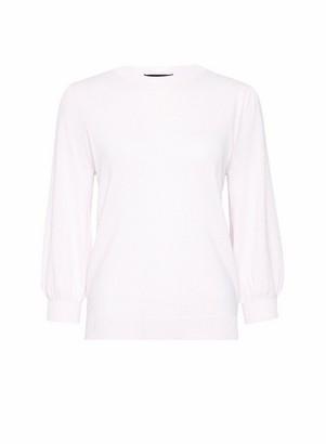 Dorothy Perkins Womens Pink Fine Knit 3/4 Sleeve Jumper, Pink