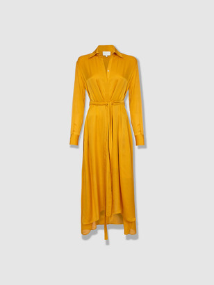 Arjé The Drea Oriental Silk Long Shirt Dress