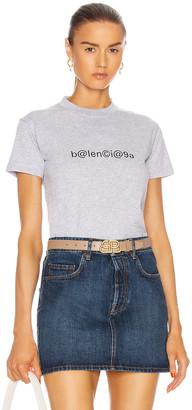 Balenciaga Small Fit T Shirt in Heather Grey & Black   FWRD