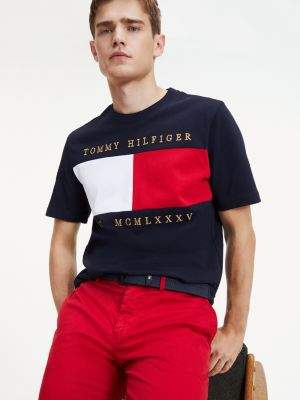 Tommy Hilfiger Colour-Blocked Relaxed Fit Organic Cotton T-Shirt