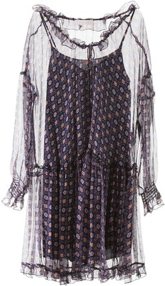 See by Chloe Graphic Umbrella Print Oversized Dress