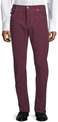 Isaia Corduroy Stretch Cotton Pants