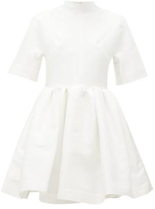 Marques Almeida Gathered Taffeta Mini Dress - White