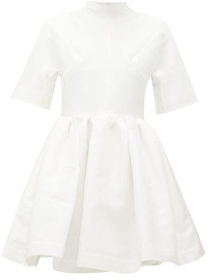 Marques Almeida Marques'almeida - Gathered Taffeta Mini Dress - Womens - White