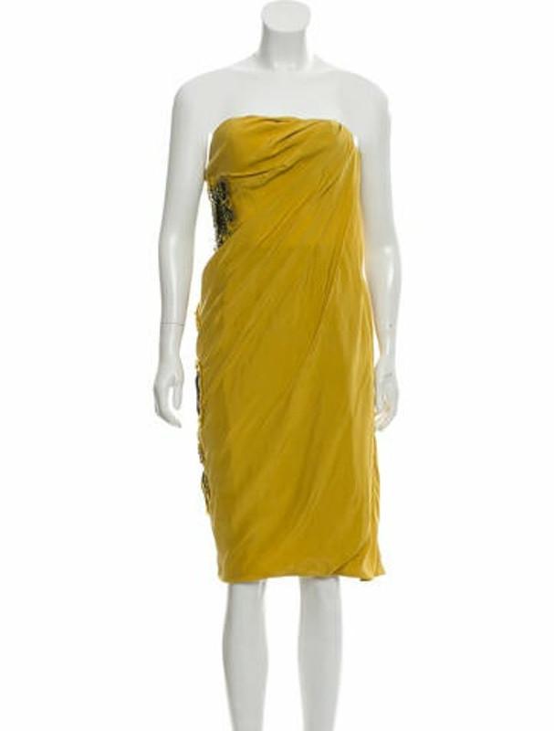 Matthew Williamson Embellished Strapless Dress multicolor