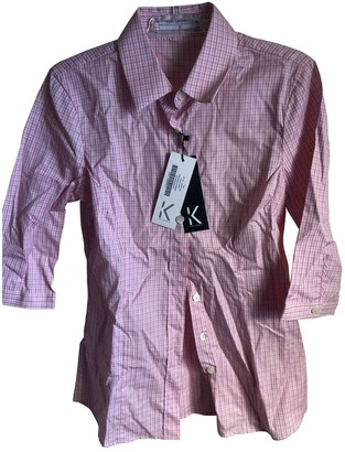 Karl Lagerfeld Paris Pink Cotton Top for Women