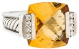 David Yurman Citrine & Diamond Cocktail Ring