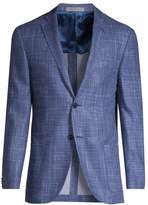 Corneliani Double-Face Silk Print Blazer