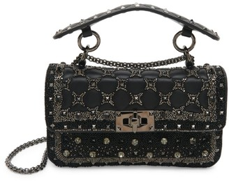 Valentino Small Rockstud Spike.It Embellished Leather Shoulder Bag