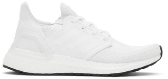 adidas White and Black Prime Blue UltraBOOST 20 Sneakers