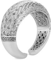 John Hardy Diamond silver chain effect cuff