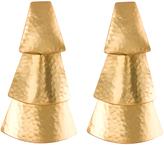Josie Natori Hammered Gold Triangle Earrings