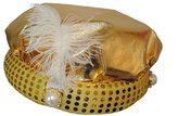 Loftus International Gypsy Fortune Teller Arabian Hat w/ Feather Plume