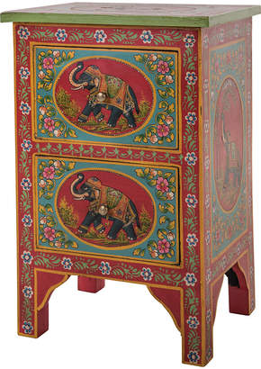 Ian Snow - Hand Painted Elephant Two Drawer Cabinet