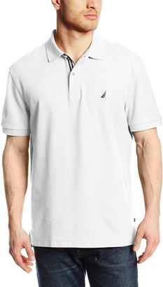 Nautica Men's Short Sleeve Solid Deck Polo Shirt