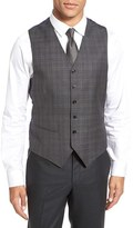 Ted Baker Men's Jones Trim Fit Plaid Wool Vest
