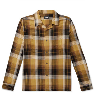 Stussy Camp-Collar Checked Flannel Shirt