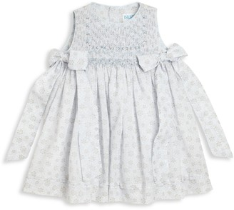 Luli And Me Baby Girl's Bow-Detail Printed Smocked Dress