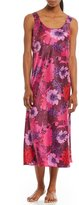 Cabernet Floral Satin Nightgown