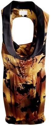 Les Hommes Gold Silk Dress for Women