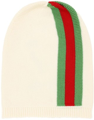 Gucci WEB KNITTED WOOL HAT