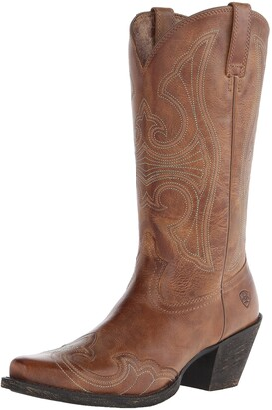Ariat Women's Round Up D Toe Wingtip Western Cowboy Boot - 7.5 B-Medium US