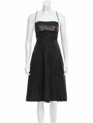 Narciso Rodriguez Embellished Midi Dress w/ Tags Black