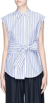 Alexander Wang Tie front stripe sleeveless shirt