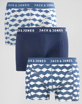 Jack & Jones Trunks 3 Pack With Print