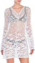 Dotti Paisley Lace Hooded Cover-Up