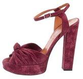 Lanvin Ruched Platform Sandals