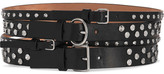 Alexander McQueen Embellished Leather Waist Belt - Black