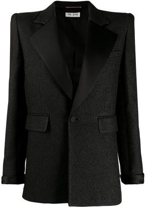 Saint Laurent glitter tailored blazer