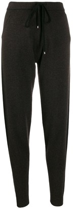 Blumarine Ribbed Waistband Tapered Trousers