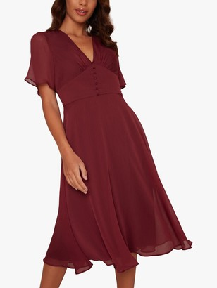 Chi Chi London Emmanuelle Dress, Burgundy