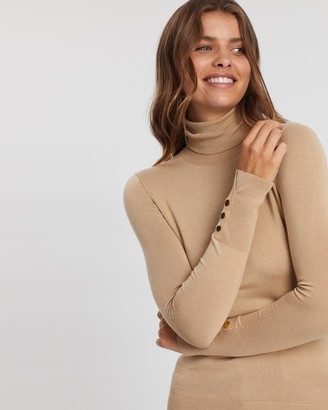Atmos & Here Turtleneck Knit with Golden Buttons
