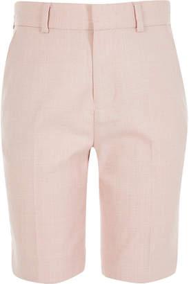 River Island Light pink smart tailored shorts
