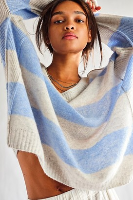 Free People Think Of You Stripe Cashmere Tunic
