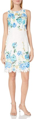 Maggy London Women's Printed Chemical Lace Sheath