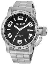 Jet Set J 27573-212 San Remo Men's Watch Analogue Quartz Black Dial Steel Strap Silver