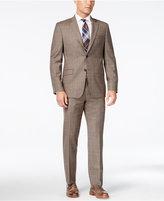 Lauren Ralph Lauren Men's Slim-Fit Light Brown Glen Plaid Flannel Suit