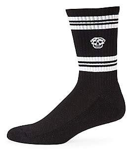 Alexander McQueen Men's Skull Logo Sport Crew Socks