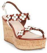 Kate Spade Tisdale Leather Platform Wedge Sandals