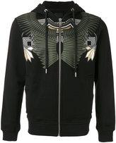 Les Hommes printed zip hoodie - men - Cotton - L