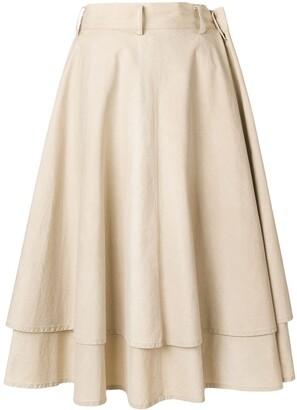 Yohji Yamamoto Pre-Owned Double-Layered Full Skirt