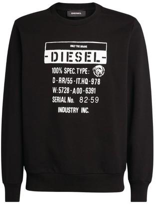 Diesel Cotton Logo Sweatshirt
